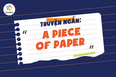 TRUYỆN NGẮN: A PIECE OF PAPER